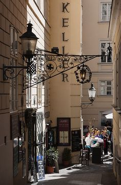 This photo was taken on the street of Vienna, Austria. There is always something going on in the city.