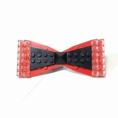 LOK'D large plain gem Lego bowtie clip // Red by lokdjewelry, $24.00