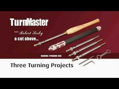 The Robert Sorby TurnMaster is perhaps the single most dynamic and flexible woodturning tool on the market. It can be used to tackle a wide variety of woodtu. Lathe Chisels, Woodturning Tools, Wooden Handles, Wood Turning, Make It Yourself, Tips, Youtube, Projects, Woodwork