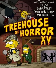 Treehouse of Horror XV The Simpsons -Treehouse of Horror The post Treehouse of Horror XV appeared first on Paris Disneyland Pictures. The Simpsons Show, Simpsons Cartoon, Simpsons Quotes, Famous Cartoons, Disney Cartoons, Adult Animated Shows, Simpsons Halloween, Simpsons Treehouse Of Horror, Horror Posters