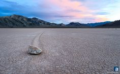 A glow, a rock, a mystery.  The race track at Death Valley.