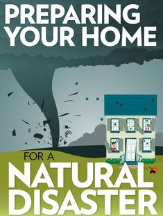 Infographic: Preparing Your Home For Natural Disasters. Great to share with your home-buying clients! Emergency Preparation, Emergency Response, In Case Of Emergency, Survival Prepping, Survival Skills, Survival Mode, Tornado Preparedness, Hurricane Preparedness, Emergency Preparedness