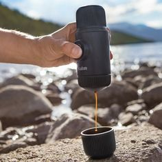 This portable espresso maker makes it easy to get your espresso fix no matter where you are. On the trail or spending the weekend camping? A strong cup of espresso is just a few pumps away. Camping Stove, Tent Camping, Camping Gear, Camping Hacks, Outdoor Camping, Outdoor Gear, Camping Equipment, Camping Trailers, Camping List