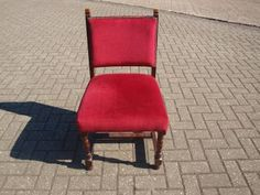 WCRU5 WOODEN BAR CHAIR WITH RED UPHOLSTERY www.cityfurnitureclearance.co.uk