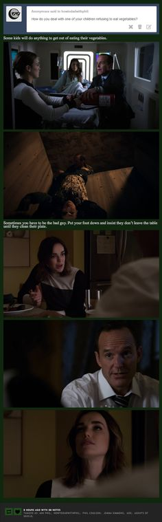 Vegetables || Jemma Simmons, Phil Coulson || How to Dad (with Phil Coulson) || #fanedit #humor
