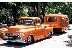 "57 CHEVROLET Pickup ""Agent Orange"""