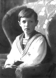 Alexei Nikolaevich, Tsarevich of Russia (1904 - 1918). Tsesarevich from 1904 until 1917, when the monarchy was abolished. He was killed with the rest of his family in 1918.