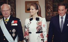 King Carl Gustaf, Princess Madeleine and Chris O'Neill  during the reception for the general-governor of Canada ♡ 20.2.2017 Credits svenskdam  #princessmadeleine_2017 #princessmadeleine #princess #prinsessanmadeleine #kungahuset #swedishroyalfamily #love