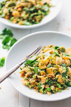 Chopped Thai Shrimp Salad with Garlic Lime Dressing