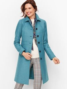 Shop Talbots for modern classic women's styles. You'll be a standout in our Italian Wool Lady Coat - only at Talbots! Italian Women Style, Classic Style Women, Modern Classic, Scarf Sale, Stylish Coat, Belted Coat, Wool Coat, Coats For Women, Dressing Rooms