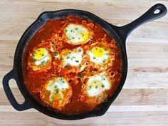 Shakshuka-this is my new favorite dish, I've made it dozens of times for breakfast, lunch, and dinner!