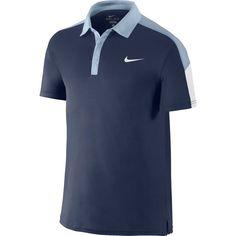 Nike Men's Team Court Tennis Polo, Size: Medium, Blue