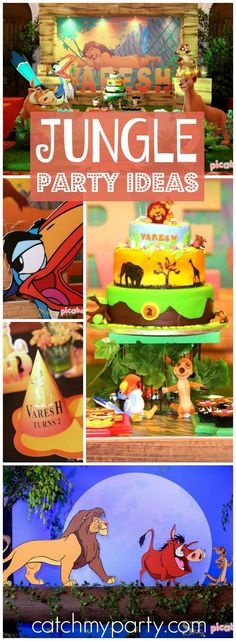 There's no worries at this fun Lion King Hakuna Matata party! See more party ideas at CatchMyParty.com!