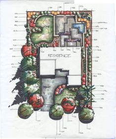 COPIC! Adam Vassau Landscape Design/ Renderings
