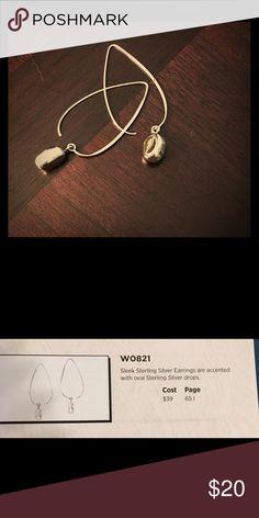 Silpada earrings W0821 Silver. Table display Silpada Jewelry Earrings