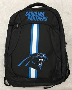 bff3f1fa8a51 Forever Collectibles NFL Carolina Panthers Action Stripe Logo Backpack