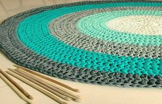 Crochet Rug Tutorial Ganchillo 50 New Ideas Love Crochet, Crochet Baby, Knit Crochet, Diy Carpet, Rugs On Carpet, Tapetes Diy, Knit Rug, Crochet Carpet, Crochet Home Decor