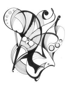 Pen and ink abstract drawing my style, friends, moments to remember. в 2 Abstract Pencil Drawings, Abstract Line Art, Art Drawings, Art Black Love, Motifs Organiques, Art Psychology, Pen Art, Art Journal Inspiration, Doodle Art