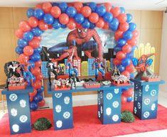 32 Ideias de Decoração Festa Infantil Homem-Aranha #homemaranha #festainfantil Spiderman, Arcade Games, Birthday, Cake, Snow White, 1, Party Ideas, Spider Man Birthday, Spider Man Party