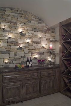 This is so gorgeous for a basement bar.