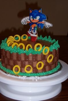 Sonic the Hedgehog Cake By jazminsweets on CakeCentral.com