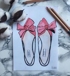 Новый день, новое начало, новые идеи и вдохновение А это туфельки из новой коллекции @prada . . . #fashionillustrator #prada #shoes…