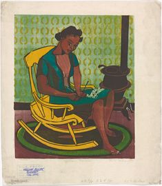 One of hundreds of thousands of free digital items from The New York Public Library.  Schomburg Center for Research in Black Culture, Art and Artifacts Division, The New York Public Library. (1935 - 1943). Yellow Rocker Retrieved from http://digitalcollections.nypl.org/items/ea4d3b50-2892-0132-5401-58d385a7bbd0