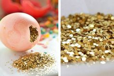 Add some surprise to your Easter get-together with DIY Confetti Eggs. - Pin to Pin Confetti Eggs, Diy Confetti, Glitter Confetti, Glitter Party, Gold Glitter, Glitter Bomb, Party Hacks, Diy Party, Party Ideas