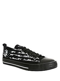 HOTTOPIC.COM - Americana Skull Lace-Up Sneakers
