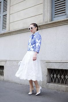 White and Blue | My wish style – fashion blogger