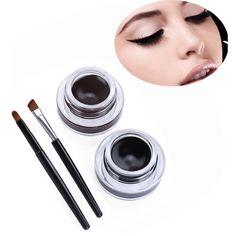 2Pcs Professional Magic Anti-Sweat Anti-Oil Waterproof Beauty Cosmetic Long Lasting Charming Double Color Eye Liner Luminous