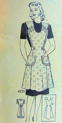 1940's vintage apron