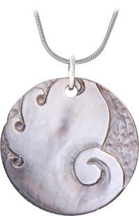 fca388c1bc1a Peter Su Carved Mother-of-Pearl Necklace at The Veterans Site Mother Of  Pearl