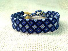 Friendship BraceletPurple and Yellow Diamond Pattern by FriendsnMe, $7.00