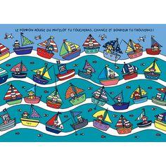 sailing boat lali postcard