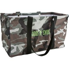 Thirty - one gifts camo large utility tote. Not just for the ladies!   mythirtyone.com/HeatherSettles