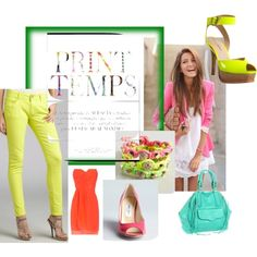 """Neon Obsession"" by bluefly on Polyvore"