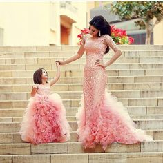 Chic Mother And Daughter Dresses Girl's Pageant Dresses Pink Ruffles Sleeveless Flower Girl's Dresses_Flower Girls Dresses_Wedding Party Dresses_Buy High Quality Dresses from Dress Factory Pink Flower Girl Dresses, Flower Girls, Pink Dress, The Dress, Gown Dress, Baby Flower, Dress Set, Dress Lace, Fuchsia Flower