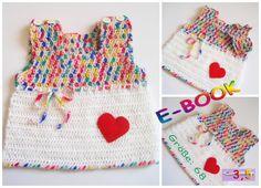 """Häkelanleitungen - E-BOOK Häkelanleitung: Baby Hängerchen """"LOVE"""" - ein Designerstück von onmyway bei DaWanda Crochet Baby, Crochet Top, Häkelanleitung Baby, Etsy, Fashion, Tricot, Bebe, Crochet Clothes, Breien"""