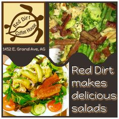 We make delicious salads Salads, Lunch, Dinner, Breakfast, Healthy, Red, How To Make, Dining, Morning Coffee
