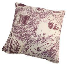 Cushion in purple
