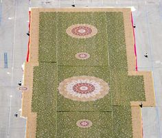 60,000 square feet carpet, the largest carpet in the world.