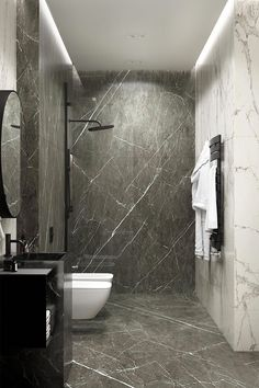 Marble Bathroom 30 inspiring bathroom design ideas made of black marble with a stylish accent, Bathroom Shower Faucets, Mold In Bathroom, Stone Bathroom, Master Bathroom, Bling Bathroom, Washroom, Bathroom Flooring, Modern Bathroom Design, Simple Bathroom