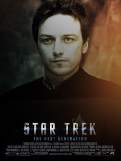 want to see this!  --James McAvoy as Jean-Luc Picard in a future Star Trek TNG film.