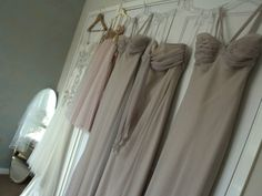 Bridesmaid dresses-Chiffon in taupe Brown Bridesmaid Dresses, Wedding Bridesmaids, Bridesmaid Colours, Our Wedding Day, Dream Wedding, Wedding Ideas, Jenny Packham Bridal, Color Inspiration, Color Schemes
