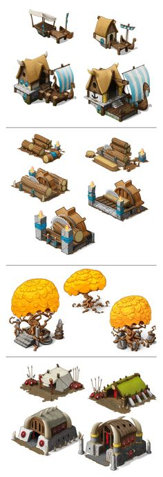 Godsrule - Building Levels by Thorir Celin, via Behance
