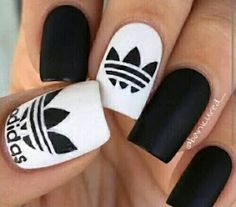 Nail art is a very popular trend these days and every woman you meet seems to have beautiful nails. It used to be that women would just go get a manicure or pedicure to get their nails trimmed and shaped with just a few coats of plain nail polish. White Nail Designs, Nail Art Designs, Nails Design, Pretty Nails, Fun Nails, Nike Nails, Happy Nails, Chic Nails, Nagel Blog