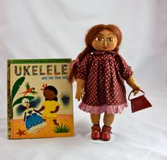 Ukulele sweet brown coloured 11 inches cloth by ParisJavaDolls