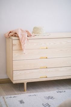 "The beautiful Kalon Simple Dresser at home with Local Milk blogger Beth Kirby via mother mag ""Our bed, Eula's crib, and our dresser are by Kalon Studios and are some of my favorite pieces we own."""