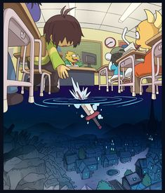 The Dark World - Deltarune Undertale Memes, Undertale Drawings, Undertale Cute, Undertale Fanart, Undertale Comic, Monster Kid Undertale, Frisk, Arte 8 Bits, Arte Indie